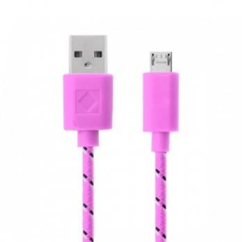 Nylon micro USB kabel 2 meter