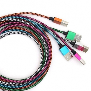 Nylon Lightning kabel 3 meter