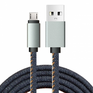 Jeans micro USB kabel 1 meter