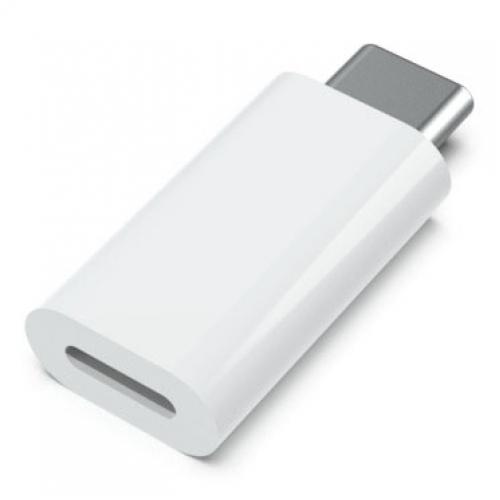 Lightning naar USB-C adapter wit