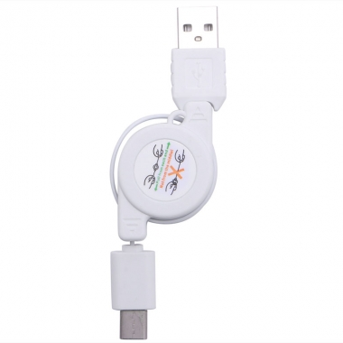USB-C naar USB kabel oprolbaar