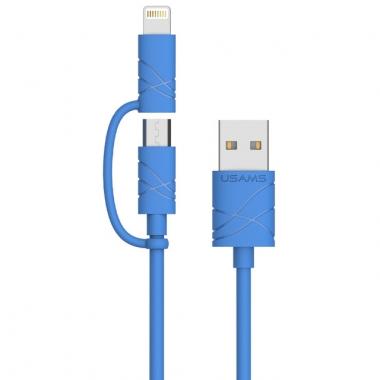 Usams Lightning en micro USB kabel 1 meter
