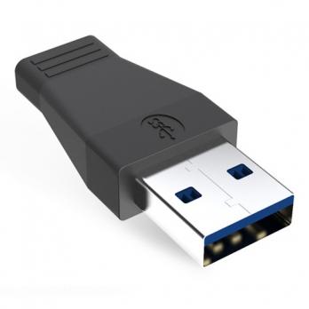 USB-C 3.1 naar USB adapter zwart
