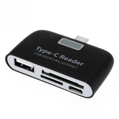 USB-C 3.1 OTG kaartlezer - USB, SD en Micro SD