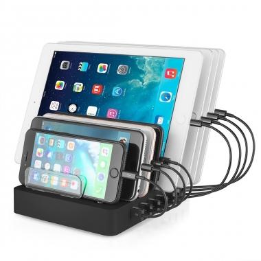 8 USB laadstation hub voor smartphones en tablets QC 3.0 96W