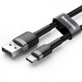 Baseus nylon USB-C kabel 2 meter zwart