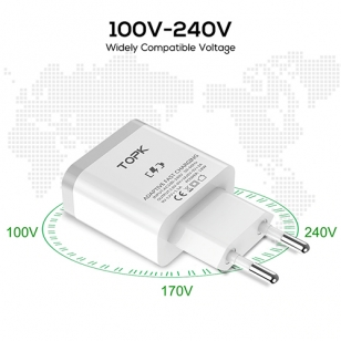 TOPK 18W Quick Charge 3.0 USB adapter