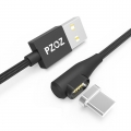 PZOZ haakse USB-C kabel 1 meter met magnetische aansluiting