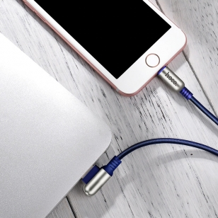 Hoco Lightning naar haakse omkeerbare USB kabel 1,2 meter