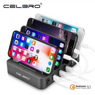 4 USB laadstation hub voor smartphones en tablets