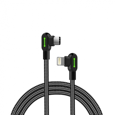 Mcdodo nylon haakse Lightning naar USB-C kabel 1,2 meter