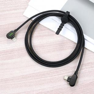 Mcdodo nylon haakse Lightning naar USB-C kabel 1,8 meter